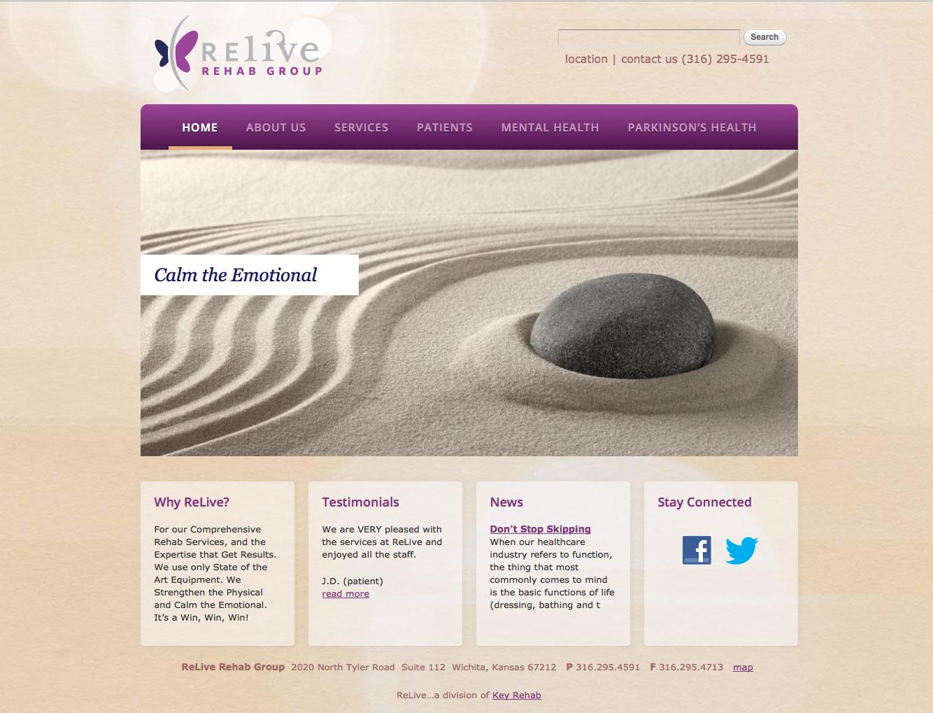 Relive Rehab Group | evanschmidt design